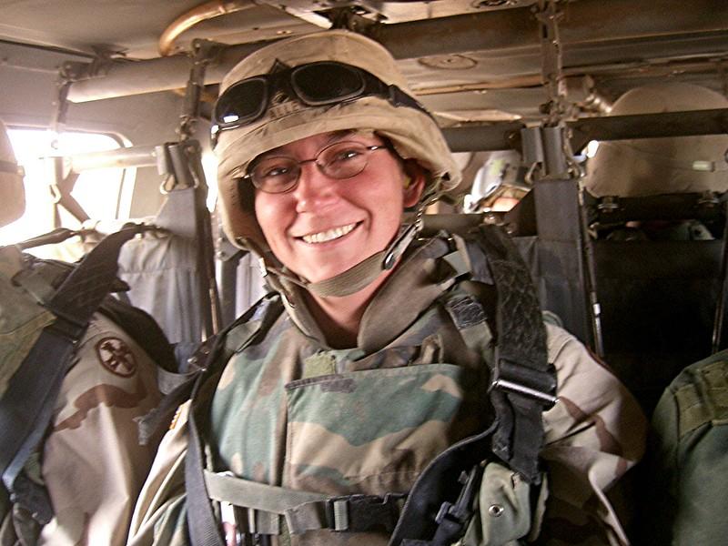 Sharon D. Allan in Iraq.