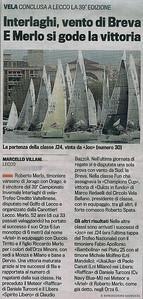 2013Nov04_Interlaghi | La Gazzetta| Interlaghi, vento di Breva E Merlo si gode la vittoria