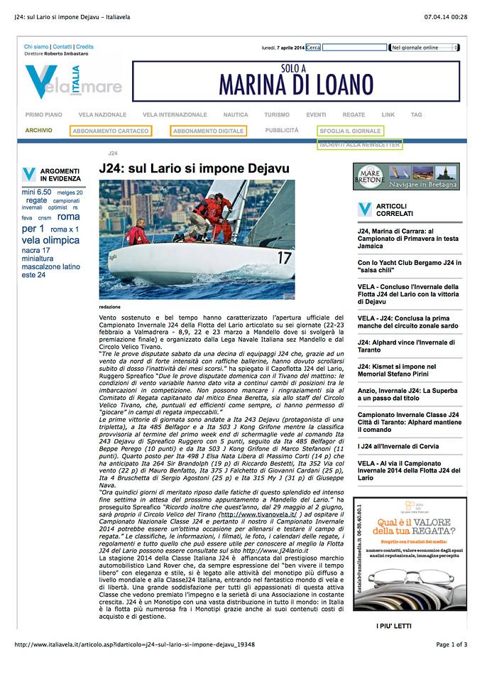 2014Mar12_J24Invernale |italiavela it| J24: sul Lario si impone Dejavu
