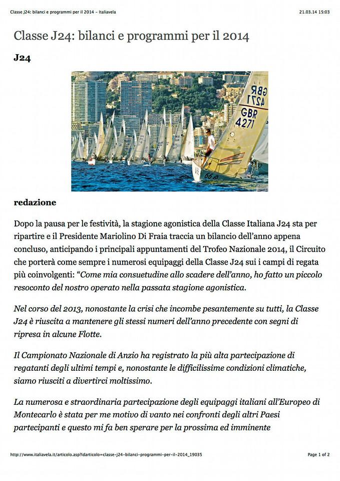 2014Jan14_J24 |italiavela it| Classe J24: bilanci e programmi per il 2014_01