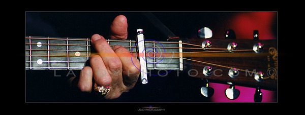 The hand of the Mystro, Johnny Cash works the frets  at one of his concerts in ireland in the early 90's. Photo Brendan Landy