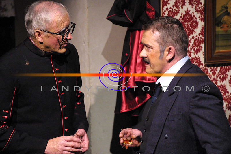 "Batt O Keeffe and Maurice o Sullivan in a scene from the opening night of 2Solo Run"" by the Lartige Theatre Company in St Johns in Listowel.<br /> Pic Brendan Landy"
