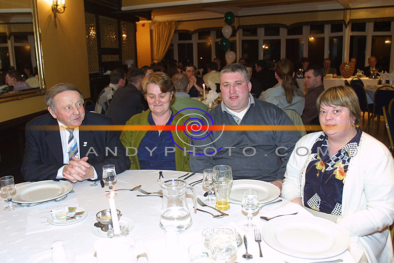Chas and Chrissis Laide  and Willie and Yvonne Guerin of Ballyduff at the Listowel Arms Hotel for the Annual Ballyduff Gaa Social.<br /> Pic Brendan LAndy