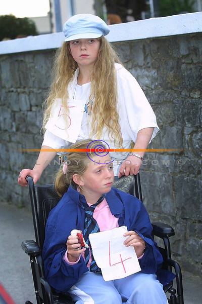 Donna and Bridgit Mc Donagh from Listowel at the Listowel Childrens Fancy Dress as part of the Harvest Festival.<br /> Pic Brendan Landy