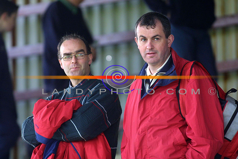 John McGuire and Mike Sheehy  at the Listowel community Games Finals in the Sports Field.<br /> Pic Brendan Landy