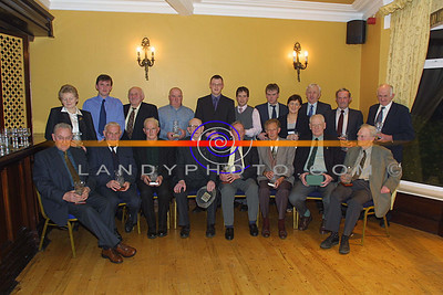 The 1951 Duagh Senior Football team players and Family Repesentives who won the North Kerry championship at the speical golden Jublie celebration in the Arms Hotel in Listowel. Pic Brendan LAndy