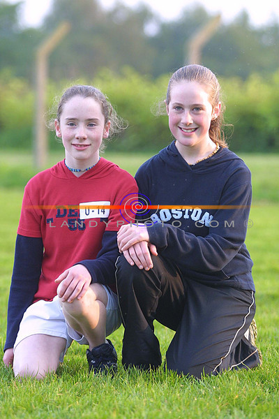Edwina Barrett and Elenor Hayes from Listowel  at the Listowel community Games Finals in the Sports Field.<br /> Pic Brendan Landy