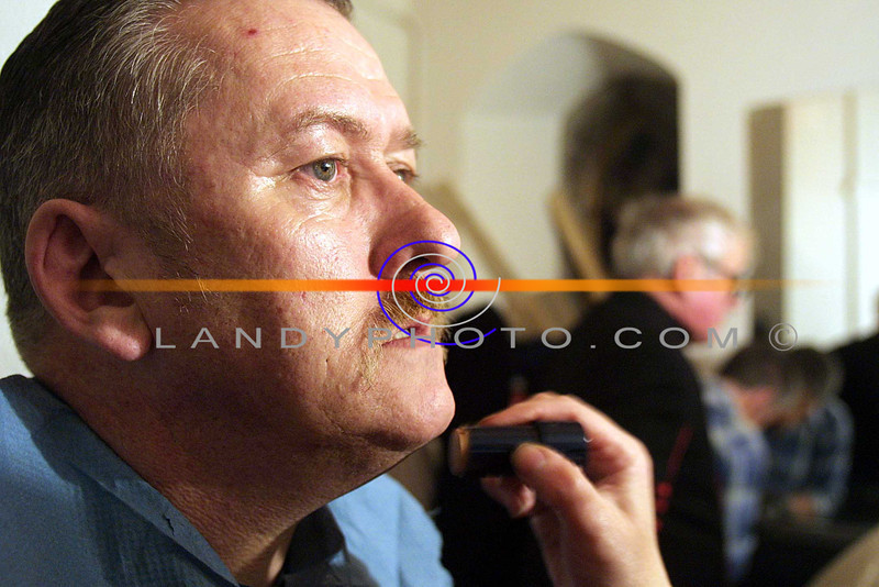 "Maurice O Sullivan one of the Cast Members of ""Solo Run"" in Make up before the premier in Listowel.<br /> Pic Brendan Landy"