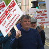 Fishermans march in Listowel at the weekend protesting atthe Goverment new lag on trespasing.<br /> Pic Brendan Landy