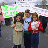 The  Little Miltown  Fisherwomen who voiced their oppinion with their plackguards at the Fishermans protest march in Listowel at the weekend.From Left <br /> Aine O Connor, Sinead O Connor and Breda Flemming.<br /> Pic Brendan Landy