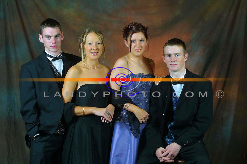Shane Leahy, ( Causeway) Siobhan  O Dowd ( Ballyduff)  Tracy O Connor ( Ballyduff) and Kieran Young ( Causeway) at the Causeway Comprehensive School debs Ball in  The Earl Of Desmond Hotel , in Tralee.<br /> Pic Brendan Landy