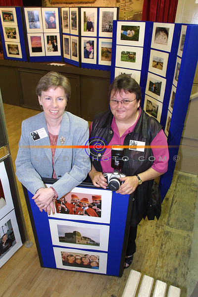 Marie Costello and Patsy Dooley amateur photographers with their work  on display at the speical Lixnaw photographic docomentary enhibition.<br /> Pic Brendan Landy