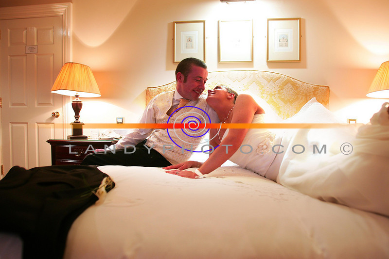 Catherina Diggins  of Ballydonoghue and Gerard Buckley of Ballybunion relax in the Bridal suite  at the Arms Hotel in Listowel.<br /> Photo Brendan Landy