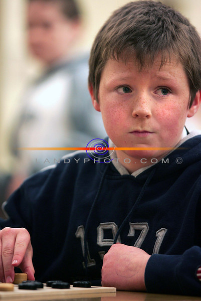 Donal Keane from Listowel competes in the u/12 community games draughs finals in Listowel.<br /> Photo Brendan Landy