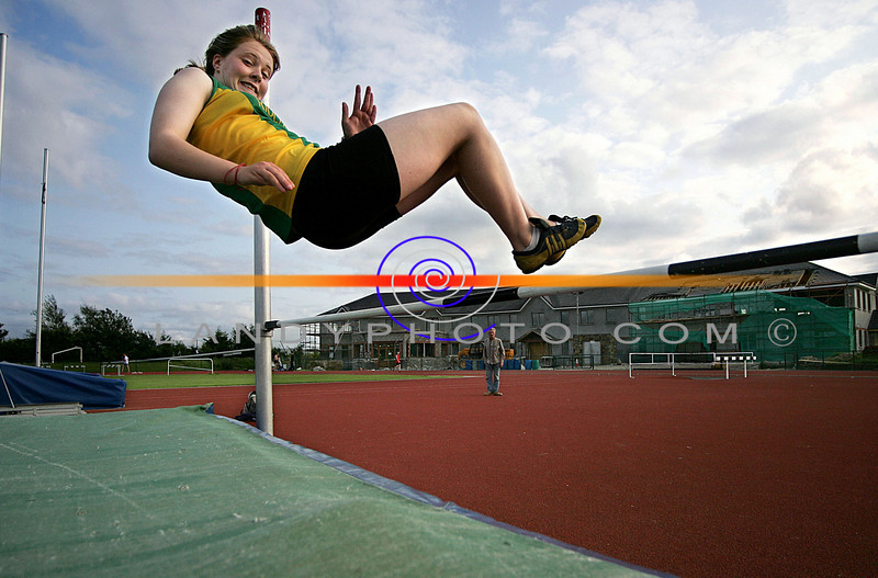 Up and Over...Maura Halpin, Riocht partipating in The High Jump in  the Kerry County Athletic Championship in Castleisland.Photo: Valerie O'Sullivan