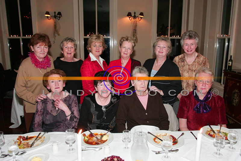 Members of Listowel ICA enjoying their Ladies Christm,as at the Listowel Arms hotel  fron  L to R: Joan Kennelly, Mary CAplice, Elaine Galvin, and Mary Barrett.<br /> Back Lto R:  Francis O Keeffe, Ann Dee, Judy McMahon, Maeve O Brien, Tina Kinsella and  Ella O Sullivan.<br /> Photo Brendan Landy