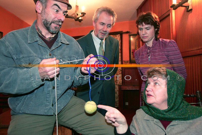 """Cast members of Listowel Players John Looney, Oliver McGrath   Majella Keenan and Noreen Buckley rehersing  Martin McDonaghs  play  """"  The Beauty queen of Lenane""""<br /> which will be staged in St Johns in Listowel.<br /> Photo Brendan Landy"""