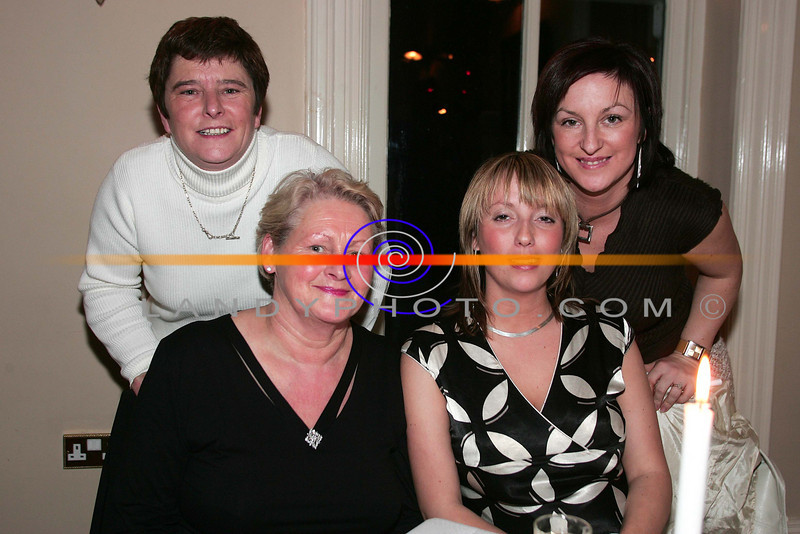 At the ladies little christmas parties in the Listowel Arms Hotel  from left are MArgaret Bennett Ballybunion Nell Murphy Ballyduff, Carina O Connor BAllybunion and Elaine Bennett Ballybunion.<br /> Photo Brendan Landy
