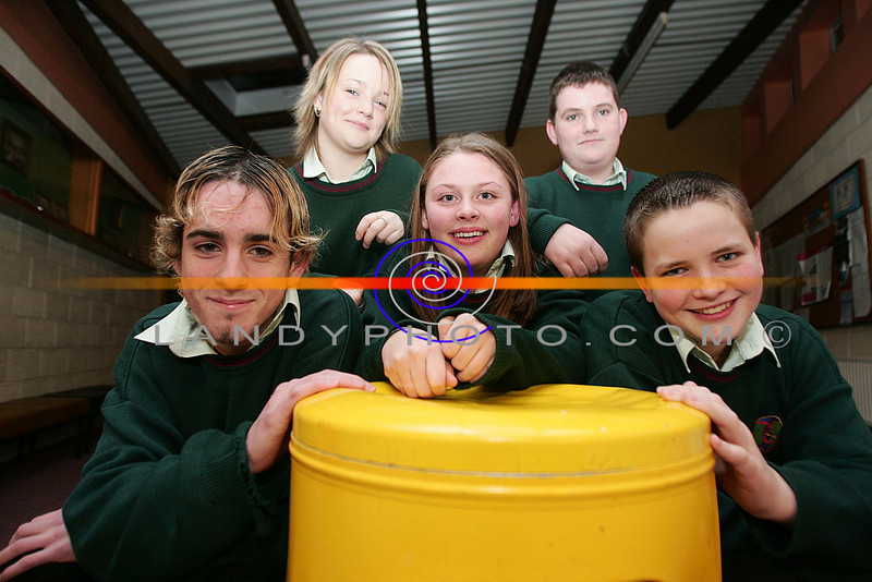 Brian Keane Lixnaw, Cloe Mulvihill Ballybunion, Clara Bunyan Causeway, David CArroll and Michael Flavin Ballyduff who competed in the Clanmorris Credit Union Poster Competition at the awards cermony in Causeway Comprehensive school.<br /> Photo Brendan Landy