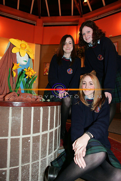 Sharon O Sullivan Ballyheigue,Aeda Cantillon Causeway, and Catriona McCarthy BAllyheigue. Artist from Causeway Comprehensive who competed in the Clanmorris Credit Union Poster Competition at the awards cermony in Causeway Comprehensive school.<br /> Photo Brendan Landy