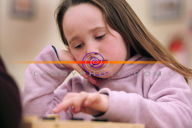 All in a move....<br /> Sinead O Donnell competes in the u/10 Listowel Community GAmes Chess and Draughs finals in St Michaels College in Listowel.<br /> Photo Brendan Landy