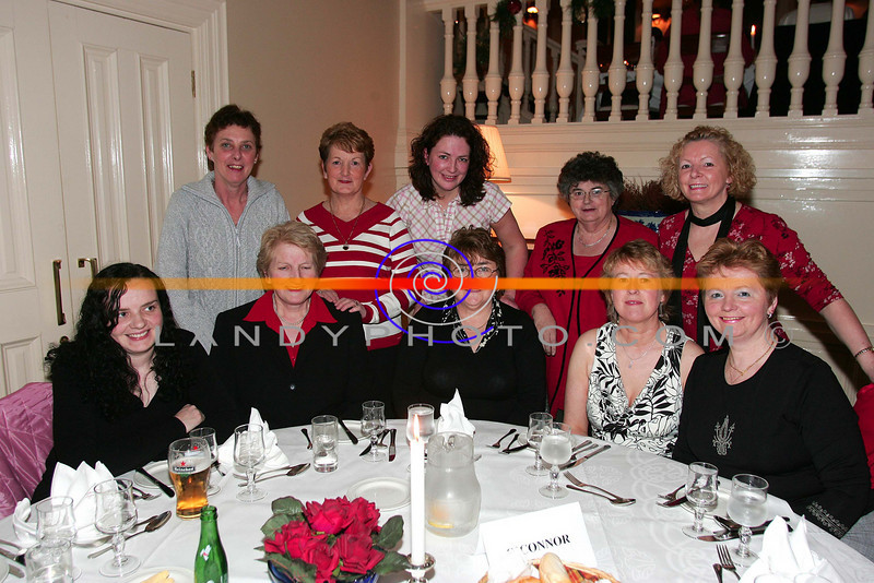 At the ladies little christmas parties in the Listowel Arms Hotel  front lto R; MAjella and Mary Somers, Nora Somers Nora  Hillard and Kathleen O Connor.<br /> Back Lto R: MArrion Brew, Mairead Hartnett, Lilly Somers,Nora Hannon and Marie Hartnett all from Listowel.<br /> Photo Brendan Landy