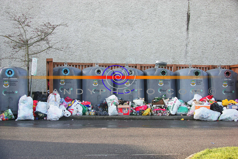 Over full bottle banks  in Listowel after teh holiday festive parties sho their signs of plenty of parties.<br /> Photo Brendan Landy