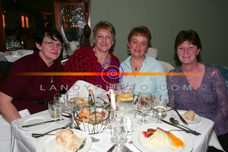 At the ladies little christmas parties in the Listowel Arms Hotel  from Left are Dawm Murphy Kilmorna, Eileen Sheehy Kilmorna, Mary Ahern  Duagh and Mary McElligott Kilmorna.<br /> Photo Brendan Landy