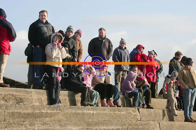 Race goers brave the winter chill in Ballyheigue for the annual races on the beach.<br /> Photo Brendan Landy
