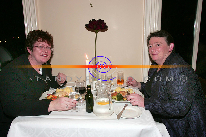 At the ladies little christmas parties in the Listowel Arms Hotel  Ann Marie O Sullivan Finuge  and  Kay Lane  Coolnaleen Listowel.<br /> Photo Brendan Landy