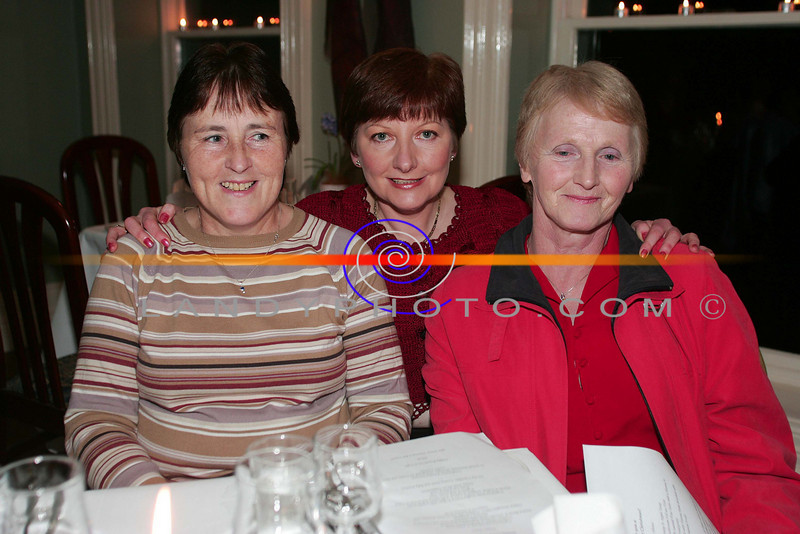 At the ladies little christmas parties in the Listowel Arms Hotel  Julie Ahern, Margaret Ahern and Kathleen O Connor from Lyrecrompane.<br /> Photo Brendan Landy