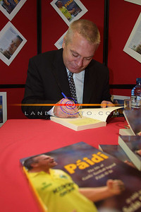 The Man behind the Book, Paidi signs copies of his very succesfull auto biography in Hannons Book store in Listowel. Pic Brendan Landy
