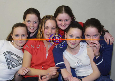 Ballylongford Girls Eileen Keane Amanda Shanahan, Maire Keane, Yvonne O Connor, Marie O Brien and Sandra Shanahan, who danced their way through the Shannonside  Youth clubs tallent competition held in moyvane. Pic Brendan Landy