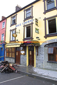 The Race Course, Bar and Restraunt in Market St in Listowel, which was extensivaly damage in a Fire on Thursday Morning. Pic Brendan Landy