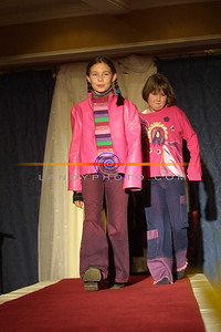 Amanda O Donnell(9) and Aoife  Curtin (10) of Listowel model some of today trendy fashions for the younger girls at the Clounmachon community Centre Fashion Show in the Listowel arms Hotel. Pic Brendan Landy