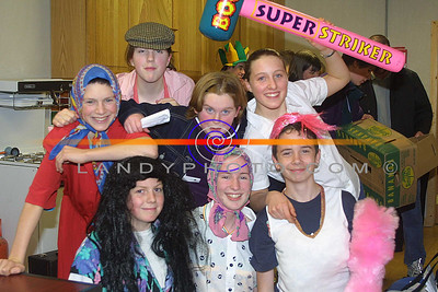 The Asdee Youth Club Members who took part in a comedy sketch at the Shannon Side youth clubs Variety concert in Moyvane. Lto R:Robbie Buckley, Meg O Hanlon, Liam Galvin, Paul O caroll, Edel Walsh, Martina O Connor and Patrice Hayes. Pic Brendan Landy