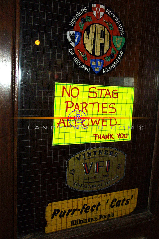 Interisting sign in John B Keanes  Bar in william St in Listowel.<br /> Pic Brendan Landy