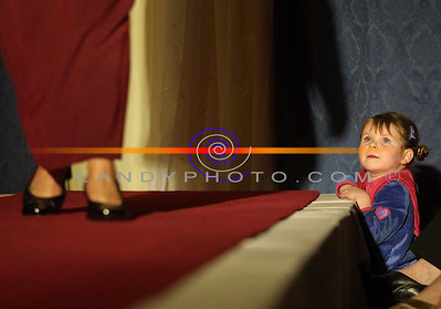 Dream's May come true.....  4 year old Jana Finnucane has stars in her eyes as she watches a model on the catwalk at the Clounmachon community Centre Fashion Show in teh Listowel arms Hotel. Pic Brendan Landy