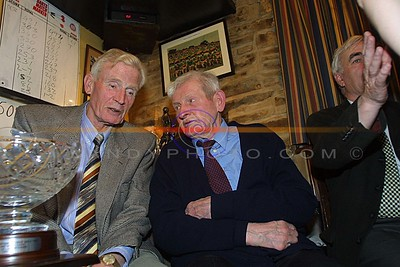 Kerry greats Ned Roche and Eddie wals in conversation at the tribute night in Knocknagoshel . Pic Brendan LAndy