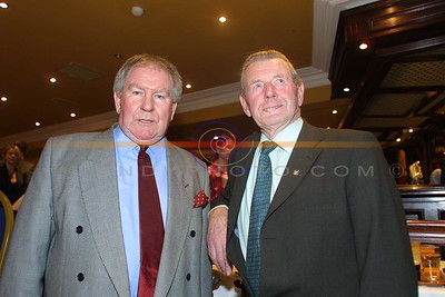 Sean Patterson and Jerry Savage at the Moyvane GAA social which this year had a celebration with the club winning the North Kerry Championship. Pic Brendan Landy
