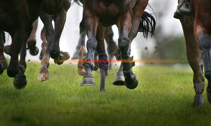Wet and soggy conditions at Listowel Races.<br /> Photo Brendan Landy