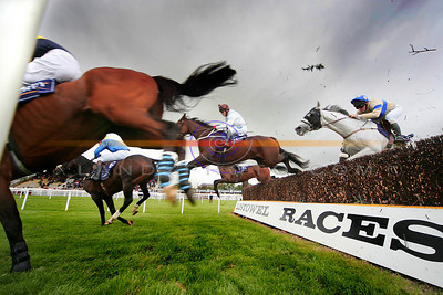 Action from Feature race on Sunday The Dawn Milk Handicap Chase in Listowel. Pic Brendan Landy