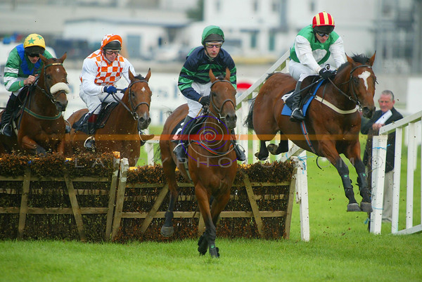 Jim Culoty  goes on to win the Devon Inn  Hurdle on board Al Eile on the opening day of Listowel Races.<br /> Pic Brendan Landy