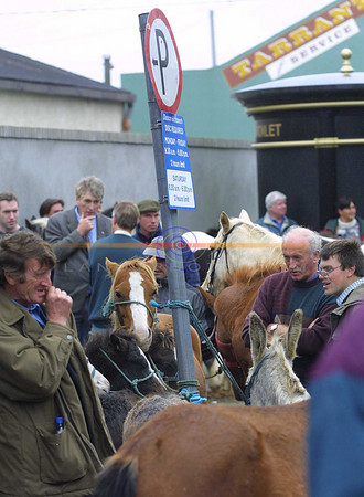 Plenty of parking but not for the regular horsepower of cars rather the possibilities of the leftovers from Listowel races as yet another horse fair in Listowel takes place in Market st.<br /> Pic Brendan Landy