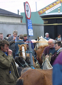 Plenty of parking but not for the regular horsepower of cars rather the possibilities of the leftovers from Listowel races as yet another horse fair in Listowel takes place in Market st. Pic Brendan Landy