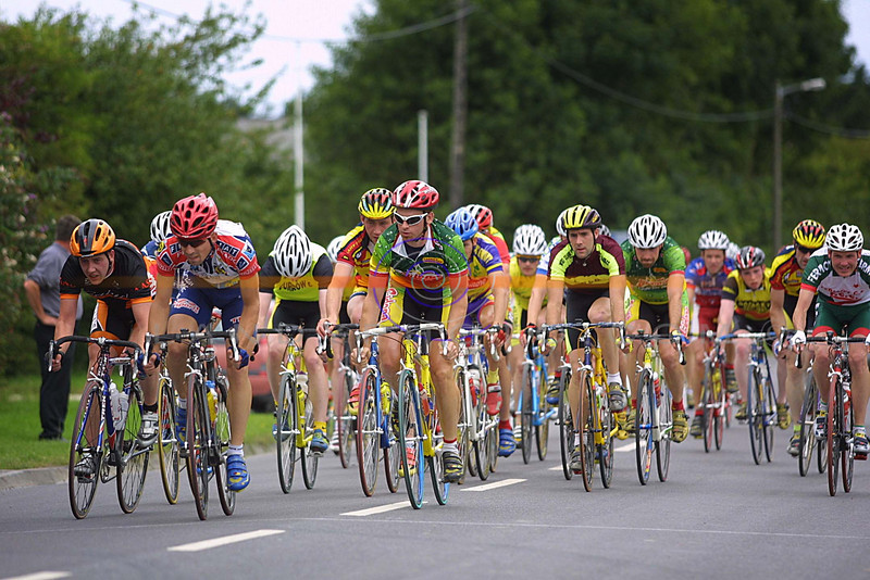 Action from the senior race at the annual Gene Moriarty emorial Cycle race in Listowel.<br /> Pic Brendan Landy