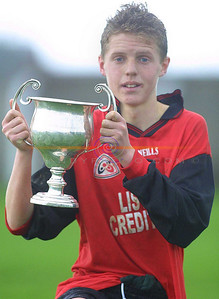 Aungus Fitzgearld captain of St Micheals Listowel u/15 team that won the Munster Colleges Final Against Abbey CBS Tipperary in Askeaton . Pic BrendanLandy