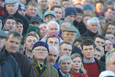 Faces Glue to the intence action at the North Kerry Final in Ballybunion. Pic Brendan Landy