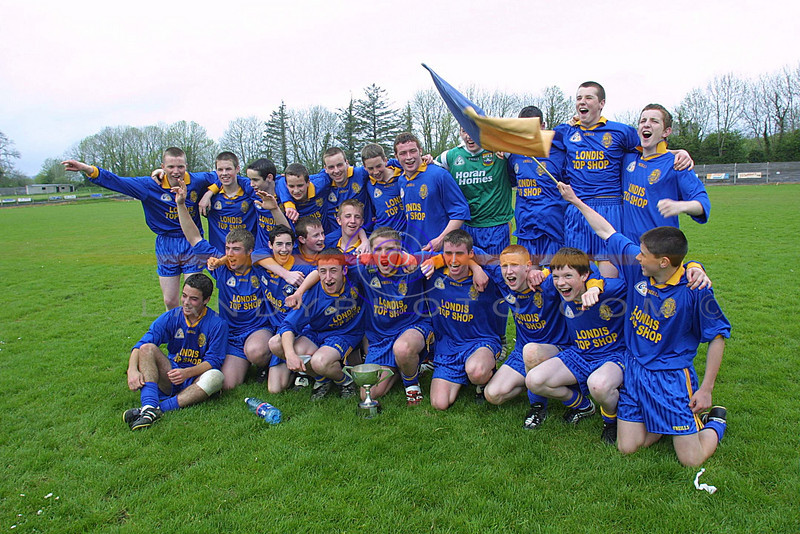 The Miltown Football team celebrate after winning the Corn Na Carraige cup in style in Newcastlewest.