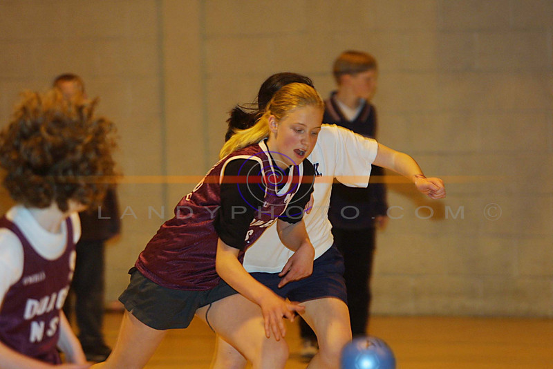 Rhiannon Mc Nulty of Duagh , in action at the County community Games  Olympic Handball girls u/13 finals in Listowel.<br /> Pic BrendanLandy